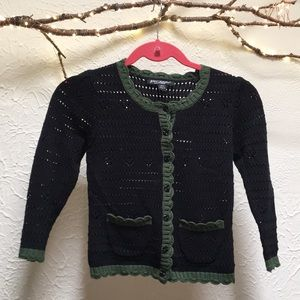 Crochet Betsey Johnson cardigan
